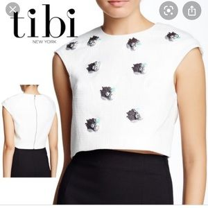 Tibi 'Nuage' cropped top size 2